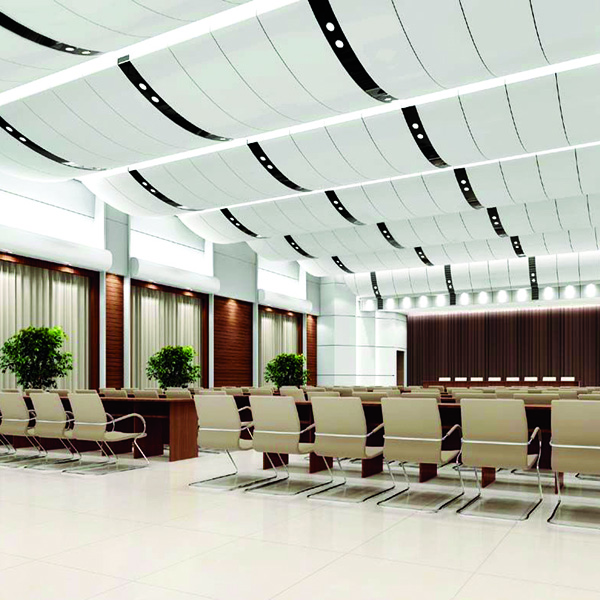 Aluminum jewellery showroom ceiling design